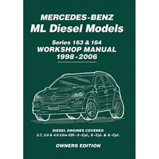 Mercedes ML ML270 ML280 ML400 Diesel 163 & 164 1998-2006 Workshop Manual MBLDWH