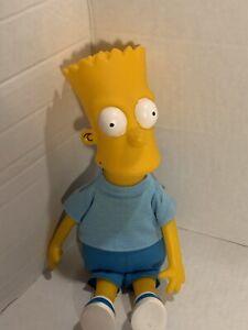 "Vintage 1990 Bart Simpson 11"" Collectible Doll Vinyl Head Soft Body Dan Dee"
