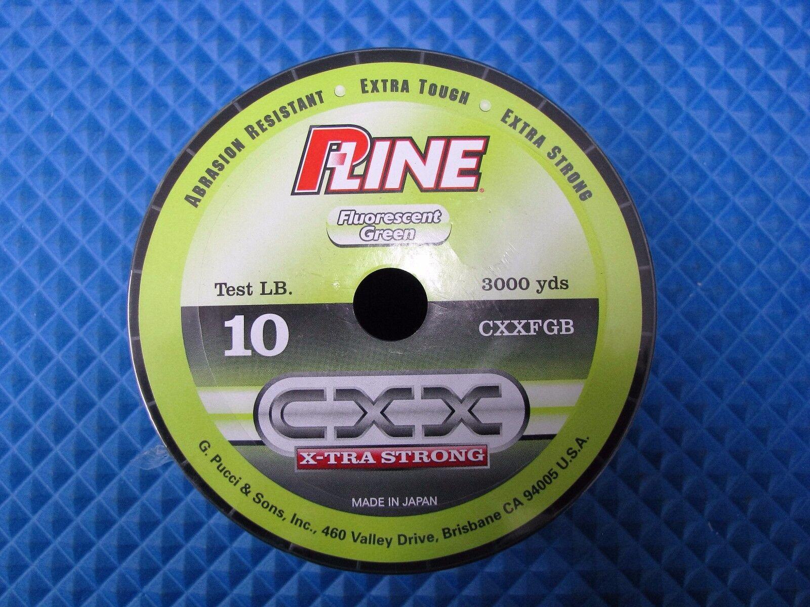P-Line 10lb Fluorescent Grün Fishing Line 3000 yd Löffel CXXFGB-10