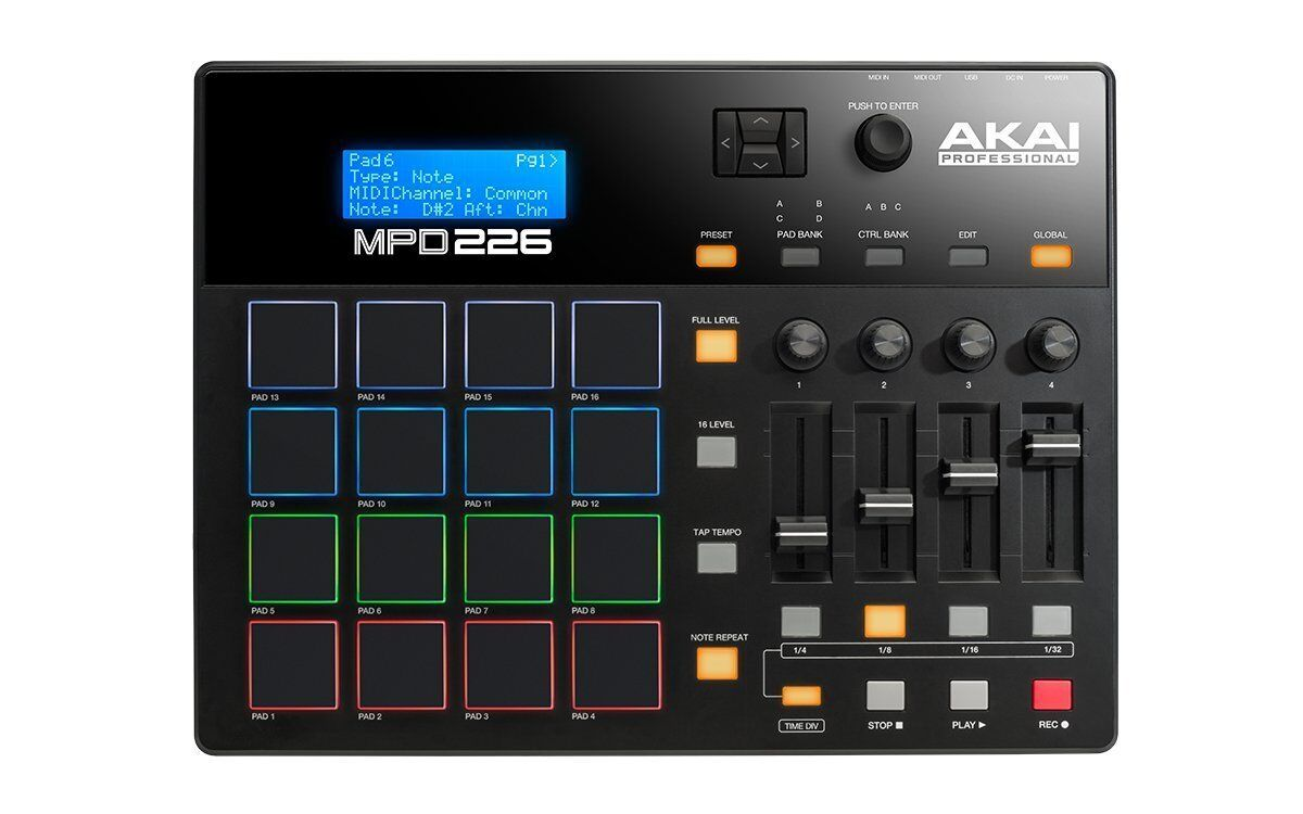 AKAI MPD226 Professioneller MIDI PAD Controller FREIE EMS SHIPPING
