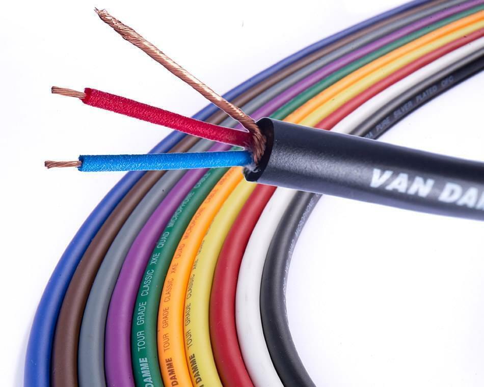 Van Damme XKE Microphone Cable. Balanced XLR Mic Wire.