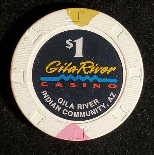 GILA RIVER CASINO $1 hotel casino gaming poker chip  GILA RIVER INDIAN COMMUNITY