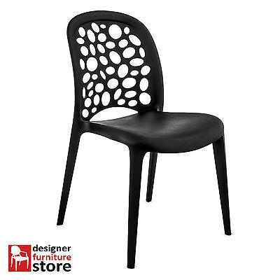 Replica Grace Chair - Black (Indoor/Outdoor) STACKABLE