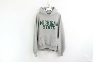 Vtg-90s-Russell-Athletic-Mens-Medium-Michigan-State-University-Spell-Out-Hoodie