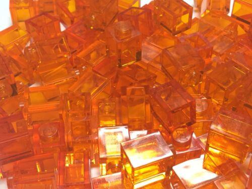 ❤ Nouveau ❤ Lego 3005 trans orange 1x1 Brique vrac Pack de 25