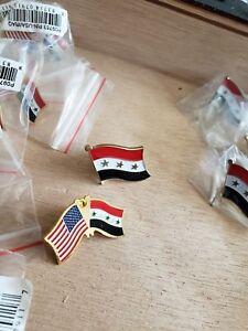 18 Pins 7 IRAQ NATIONAL COUNTRY WORLD FLAG PINs 11 IRAQ USA COUNTRY FRIENDSHIP