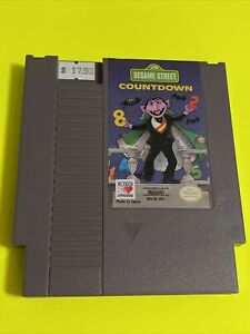 WORKING-NINTENDO-NES-CARTRIDGE-LEARNING-GAME-SESAME-STREET-COUNTDOWN