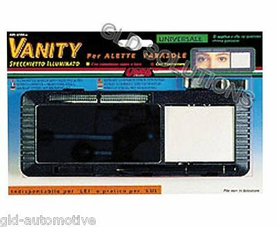 Specchietto Illuminato VANITY Alette Parasole Auto con PILE Car Rearview Mirror