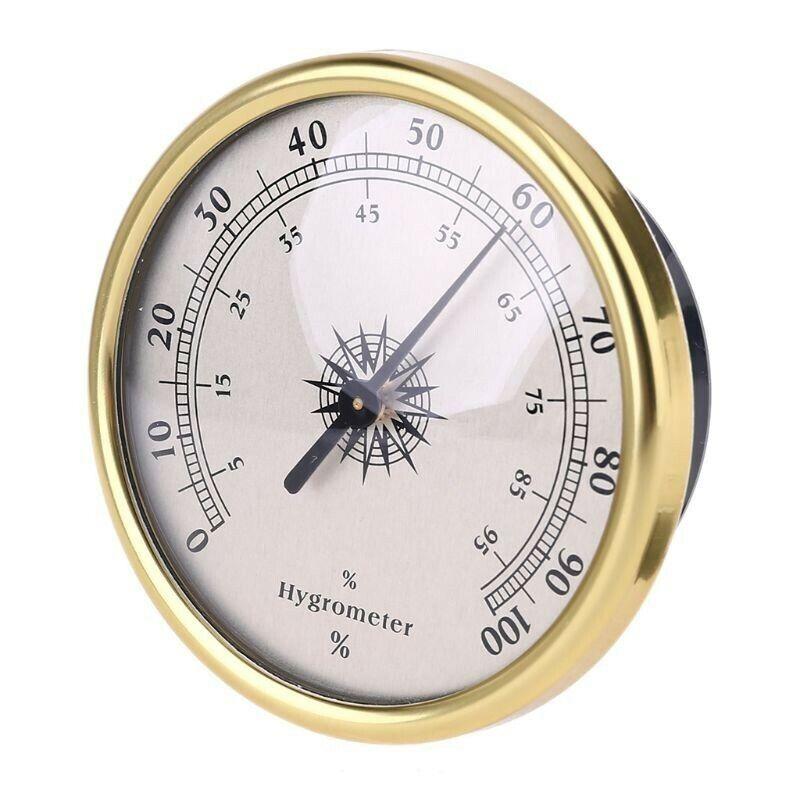Round Hygrometer Indoor Outdoor 0~100% (RH) Humidity Weather Meter Gauge Tools