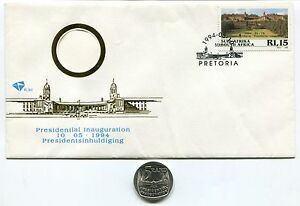 South-Africa-Nelson-Mandela-Presidential-Inauguration-1994-FDC-W-used-R5-Coin