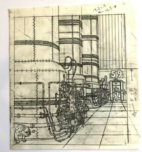 "FRANK MILER GEOF DARROW Hand Drawn & Inked Comic HARD BOILED art 8""x9"" #SL"