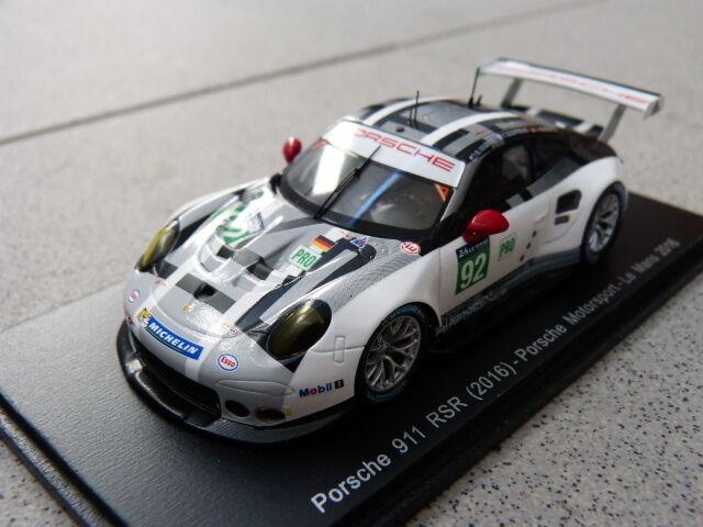 Porsche 911 991 991 991 GT3 Rsr Motorsport pro  92 24h Lemans 2016 Spark Coche Modelo 52249c