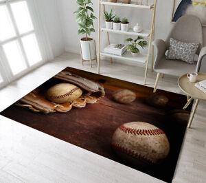 Details About Old Vintage Baseball Glove Background Area Rugs Bedroom Living Room Floor Mat