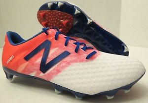 ed8327d393865 NEW BALANCE NB FURON FG SOCCER CLEATS White/Flame/Ocean Blue (MEN'S ...