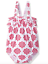 Hatley Girls/' Baby Ruffle Swimsuit Henna Floral 18-24 Months UK Seller
