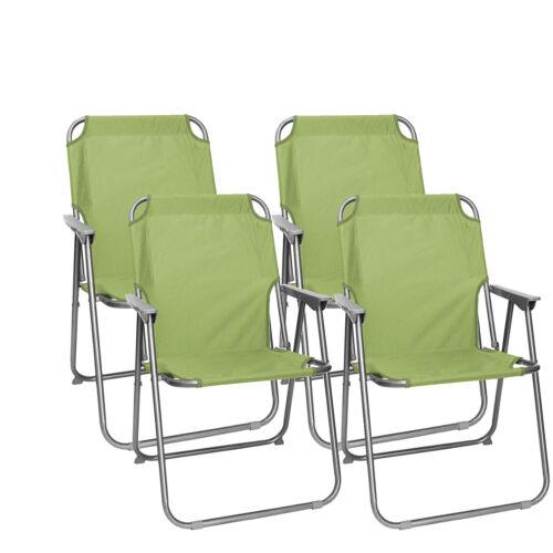 Set wohaga ® Camping chaises pliante Chaise pliante plage chaise chaise de jardin vert