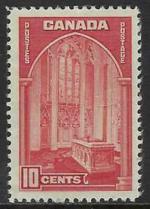 Scott-241-10c-dark-carmine-1938-Memorial-Chamber-Issue-light-crease-VF-NH