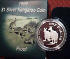 Australia 1999 Kangaroo silver 1oz Proof $1