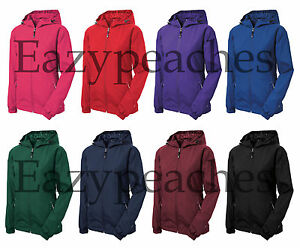 SPORT TEK LADIES S-2XL 3XL 4XL Colorblock Hooded Windbreaker ...