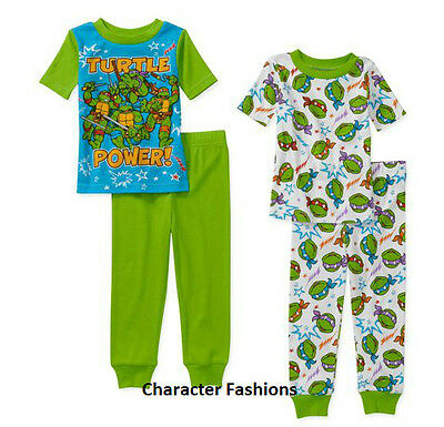 NEW Teenage Mutant Ninja Turtles Button Up 2pc Pajamas Set PJs Boys 24M 4T 5T