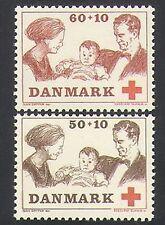 Denmark 1969 Red Cross/Medical/Health/Welfare/Royalty/People 2v set (n35883)