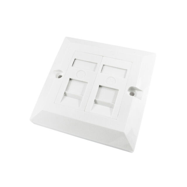 RJ45 Face Plate Wall Socket Cat6 Cat5e Ethernet Single Gang 3 Port