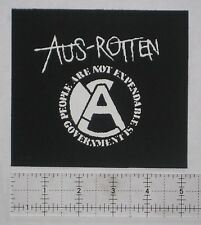 Aus-Rotten DIY Patch - Amebix Anti Cimex Crass Antisect Punk Crust Disrupt Doom