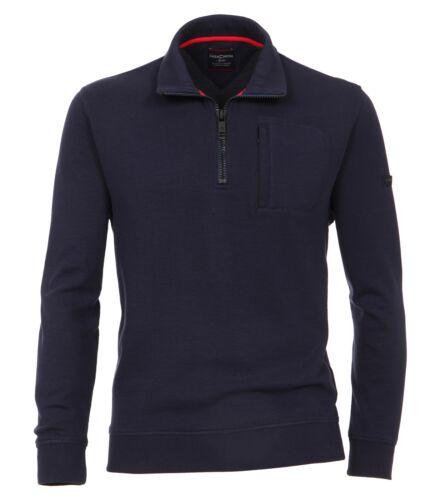 Casa Moda-Uomo Sweat-Troyer in blu o rosso 482882500