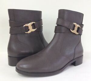 6b72b0ca5f40 New Tory Burch Women s 7 8.5 Gemini Link Leather Ankle Boot Bootie ...