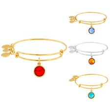 Alex & Ani Ladies Charm Bangle Bar - Birthstone Collection