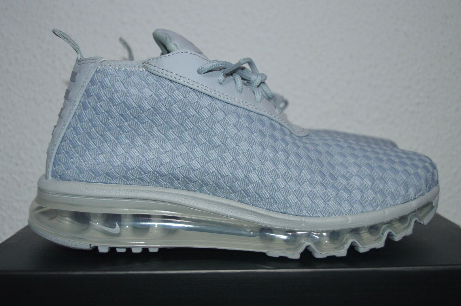 NIKE MAX WOVEN BOOT 921854 001 WOLF GREY-WHITE US8 UK7