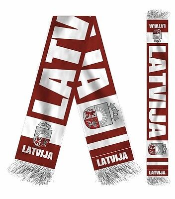 Hockey-other Earnest New 2019 Latvia Hockey Fan Scarf Nhl Latvija Girgensons Ozolins Redlihs Kenins
