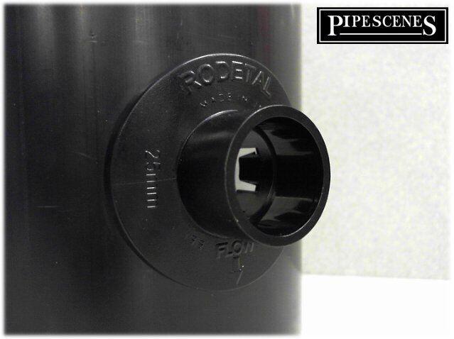 BigBoss Pipe Adaptor Clip in Strap on Boss alternative for 21.5mm WHITE 110mm