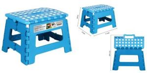 Magnificent Details About Blue Super Strong Folding Step Stool Plastic For Kids And Adults With Handles Ocoug Best Dining Table And Chair Ideas Images Ocougorg
