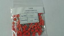 100Pcs Crimp  Ferrule Terminal Red E1510