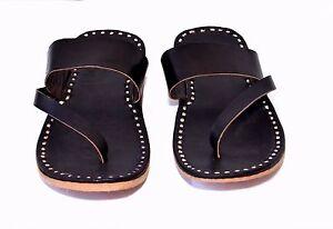 9e145fff59e3 Image is loading handmade-mens-slippers-mens-sandals-black-leather-slippers-