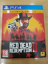 PS4 Red Dead Redemption 2 ultimate edition empty carton box cover only NO GAME