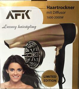 AFK Föhn Haartrockner gold braun metallic limited edition Diffusor Luxus styling