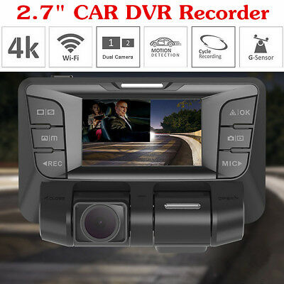 4K 1080P 2.7inch hidden Wifi Car DVR Video recorder Camera Dash Cam Dual Lens