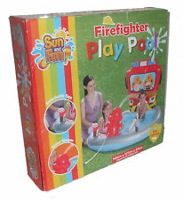 Firefighter Play Pool Outdoor Garden Inflatable Paddling Pool