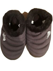 The-North-Face-Womens-XSmall-Goose-Down-Brown-Slippers-Faux-Fur-Lined
