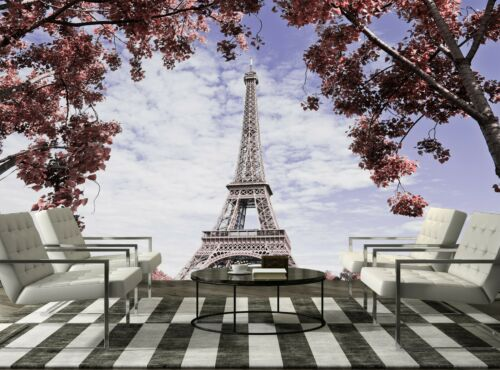 Paris .Eiffel Tower Photo Wallpaper Wall Mural DECOR Paper Poster Wall art