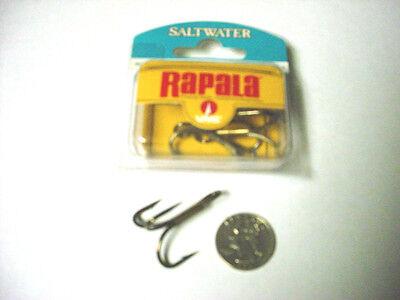 New VMC Rapala 100 Gold Fish Hooks Size 2 Baitholder Live Bait 9899 DO