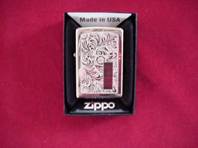Zippo Solid Brass Scroll  Venetian Lighter GREAT NEW  sale online discount
