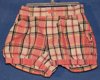 Baby & Toddler Clothing Adorable The Children's Place Little Girl's Pull On Plaid Shorts 12-18 M Nwt