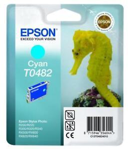 New-Epson-R200-R220-Cyan-Ink-Cartridge-T0482-GENUINE