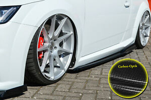 Side-Skirts-Sills-with-Wing-ABS-for-Audi-TTRS-8S-Carbon-Look