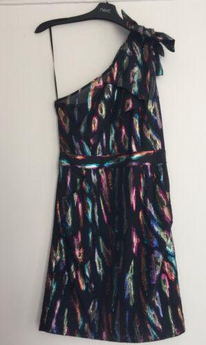 Next Metallic Bow robe de soirée 6//8//10//12//14//16//18//20 RRP £ 45