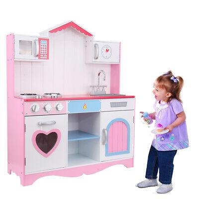 Cucina Giocattolo Grande per Bambini con Accessori in Legno 82 * 29 * 100cm | eBay