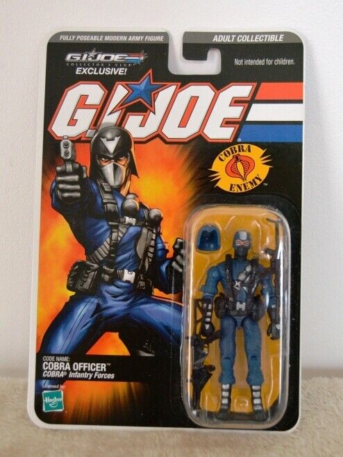 Gi joe collector club exclusive cobra officer 2009 moc